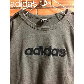 アディダス(adidas)のadidas アディダス tシャツ ダークグレー おしゃれ 可愛い 人気 特価(Tシャツ/カットソー(半袖/袖なし))