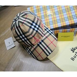 BURBERRY - 夏コーデBurberry キャップ 帽 チェック柄 タグ付き 男女通用
