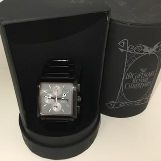 ディズニー(Disney)の【ナイトメア・ビフォア・クリスマス】クロノグラフ メンズ腕時計(腕時計(アナログ))