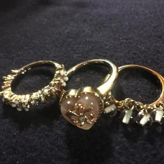 アナスイ(ANNA SUI)のアナスイ  ピンクゴールド 3連リング セット(リング(指輪))