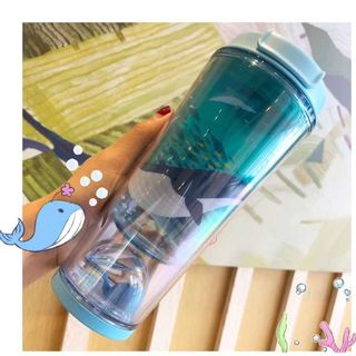 Starbucks Coffee - スタバ 可愛い 水晶珠 鯨 コールドカップ ブルー 12oz 7月海外限定最安値
