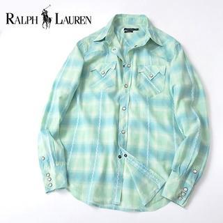 ラルフローレン(Ralph Lauren)の美品 ラルフローレン 淡いマルチカラーチェック◎ウエスタンシャツ(シャツ)
