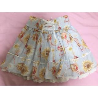 リズリサ(LIZ LISA)のLIZ LISA キュロット ブルー💙 ひまわり柄 夏服(ミニスカート)