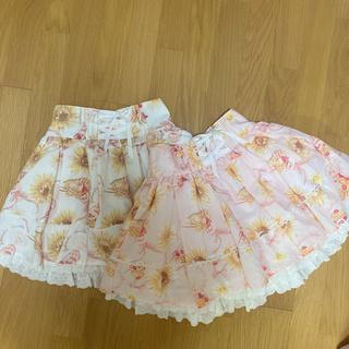 リズリサ(LIZ LISA)のLIZ LISA スカート キュロット ピンク💗 ひまわり柄 夏服(ミニスカート)