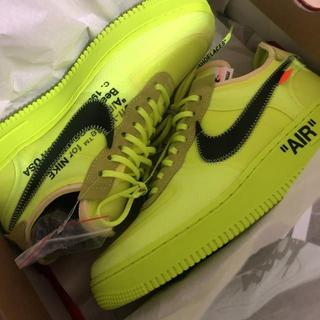 オフホワイト(OFF-WHITE)のNIKE AIR FORCE 1 OFF WHITE VOLT(スニーカー)