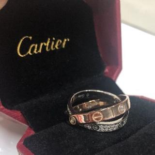 カルティエ(Cartier)のカルティエ ラブリング 12号 ダイヤ 2連 リング(リング(指輪))