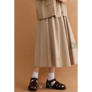 メルロー(merlot)のmerlot コットンフレアタックミディスカート(ひざ丈スカート)