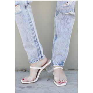 アリシアスタン(ALEXIA STAM)のアリシアスタン♡Clear Heel Sandals White サイズM(サンダル)