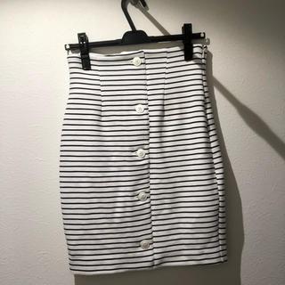 ジルスチュアート(JILLSTUART)のJILL STUARTの前ボタンタイトスカート(ひざ丈スカート)
