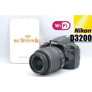 Nikon - 美品♪ 新品Wi-Fi SDカード付♪ NIKON ニコン D3200