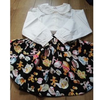 Shirley Temple - シャーリーテンプル くまちゃん柄スカート