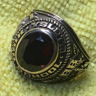 ヴィンテージ 1968年 10K カレッジリング スクールリング 23号 美品(リング(指輪))