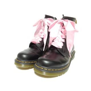 ドクターマーチン(Dr.Martens)のシューレースカスタム!【定価¥25920】ドクターマーチンUK6ブラック8ホール(ブーツ)