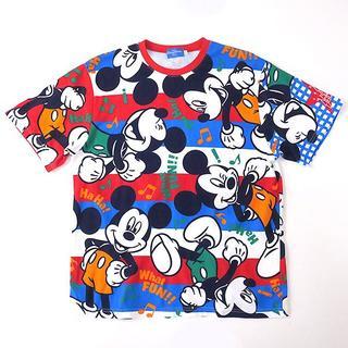 ミッキーマウス(ミッキーマウス)のディズニー公式 ミッキーマウス マルチボーダーTシャツ(Tシャツ/カットソー(半袖/袖なし))