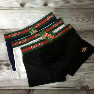 Gucci - 3枚組 送料込 GUCCI ボクサーパンツ Lサイズ