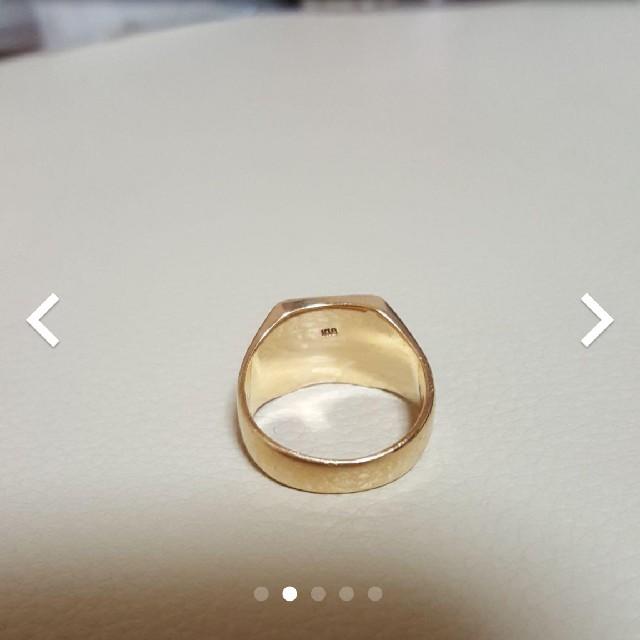 18金平打ちリング最終値下げ メンズのアクセサリー(リング(指輪))の商品写真