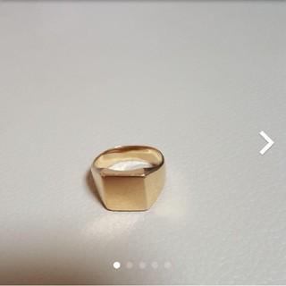 18金平打ちリング最終値下げ(リング(指輪))