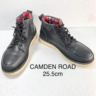 【CAMDEN ROAD】レザーハイカットスニーカー 25.5cm(スニーカー)