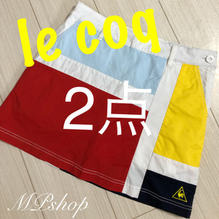 le coq sportif - 美品♡ ルコックゴルフ インナーパンツ一体型 ゴルフスカート ゴルフウェア