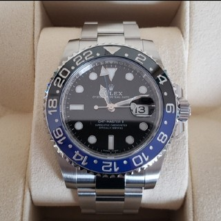 ロレックス(ROLEX)のコマ調整のみ未使用 GMTマスター2 黒青 2018年12月購入(腕時計(アナログ))