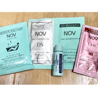 ノブ(NOV)のノブ シャンプー、ボディローション、入浴剤セット(サンプル/トライアルキット)