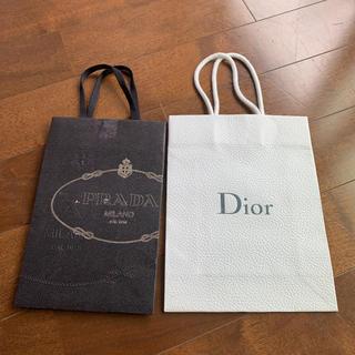 ディオール(Dior)のショップ袋 Dior  PRADA 2枚セット(ショップ袋)