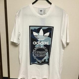 アディダス(adidas)の新品タグ付 adidas アディダスオリジナルスTシャツ 白 XLサイズ(Tシャツ/カットソー(半袖/袖なし))