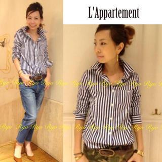 L'Appartement DEUXIEME CLASSE - 美品⭐️トーマスメイソン 襟ワイヤーフト ストライプ1ポケシャツ/XS/S