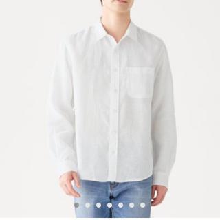 ムジルシリョウヒン(MUJI (無印良品))の【新品・半額以下】無印 紳士 シャツ L(シャツ)
