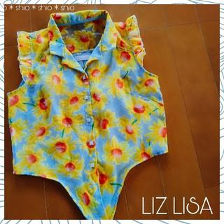 LIZ LISA - 《LIZ LISA》花柄 フラワー 背中シースルー オーガンジー トップス 0