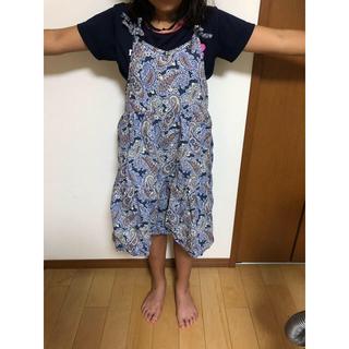 イッカ(ikka)の夏休み大放出‼140青ワンピースリボン可愛い(ワンピース)