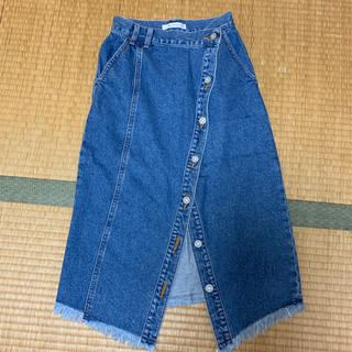 マウジー(moussy)のmoussy☆デニムスカート(ひざ丈スカート)