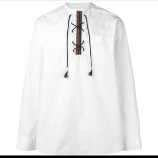 マルニ(Marni)のmarni  48   レースアップシャツ   ホワイト(シャツ)