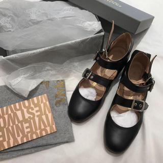 Vivienne Westwood - 美品 ヴィヴィアンウエストウッド ロマンスリーストラップ  黒 UK5