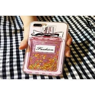 送料込み 香水瓶 iPhoneケース キラキララメ グリッターケース