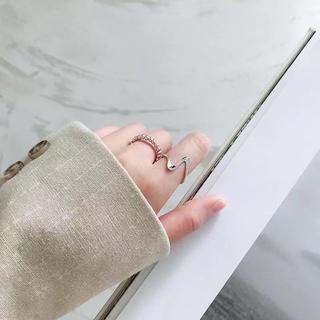 アメリヴィンテージ(Ameri VINTAGE)のsilver925 変形デザインリング silver No.170(リング(指輪))