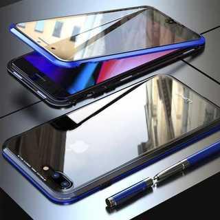 360°保護 金属フレーム 前後ガラスケース iPhone8 / iPhone7