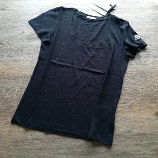 MONCLER - レディースS ブラック 薄手UネックTシャツ モンクレール