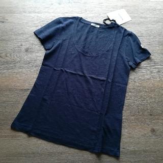 MONCLER - レディースS ダークネイビー 薄手UネックのTシャツ モンクレール