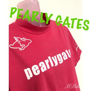 PEARLY GATES - 【メンズ】美品!パーリーゲイツ 半袖 モックシャツ ゴルフウェア