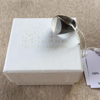 マルタンマルジェラ(Maison Martin Margiela)の19AW新品M マルジェラ ツートーン シグネットリング オーバル 今期(リング(指輪))