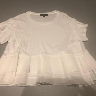 Drawer - ドゥロワー Drawer ペプラムTシャツ