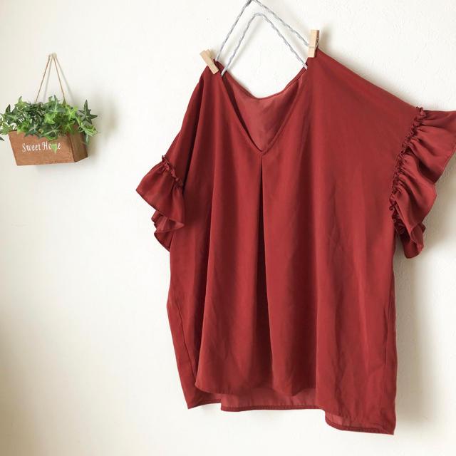 GU(ジーユー)のGU  袖フリルブラウス レディースのトップス(シャツ/ブラウス(半袖/袖なし))の商品写真