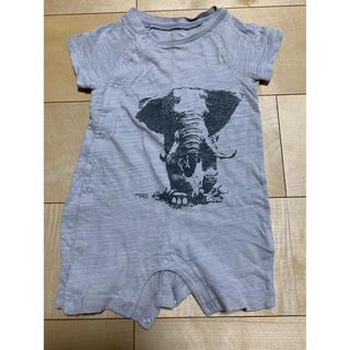 ベビーギャップ(babyGAP)のGAP ロンパース 70 ベビーギャップ ゾウ グレー 動物 サファリ 半袖(ロンパース)