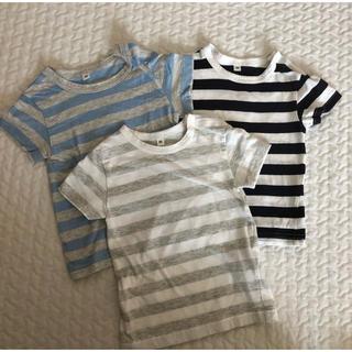 ムジルシリョウヒン(MUJI (無印良品))の無印良品 80サイズ ボーダーTシャツ (Tシャツ)