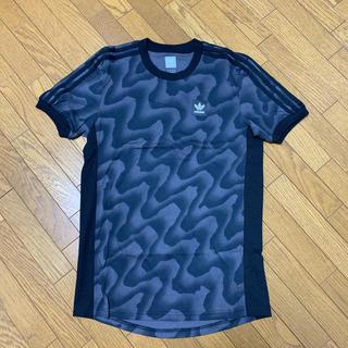 アディダス(adidas)のadidas originals ワープ総柄のスリーストライプTシャツ(Tシャツ/カットソー(半袖/袖なし))