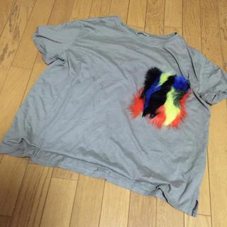 ZARA - ZARA ファーポケット Tシャツ L