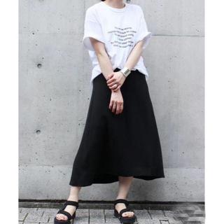ドゥーズィエムクラス(DEUXIEME CLASSE)のドゥーズィエムクラス  DOUBLE CLOTH フレア スカート 黒 34(ロングスカート)