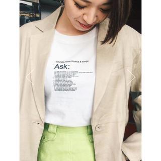 マウジー(moussy)のSLY SONGS ASK Tシャツ moussy ungrid(Tシャツ(半袖/袖なし))