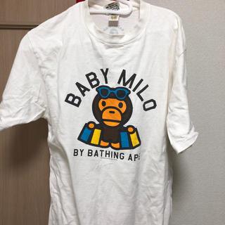 アベイシングエイプ(A BATHING APE)のAPE白Tシャツ(Tシャツ/カットソー(半袖/袖なし))